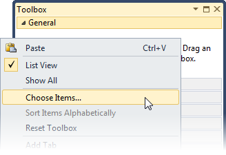 Visual Studio Toolbox Control Integration - visual studio
